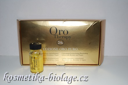 Fanola Oro Therapy Lozione Oro Puro Concentrated restructuring Iluminating lotion with Keratin and Argan